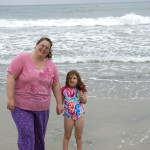 isa and mommy on beach 1
