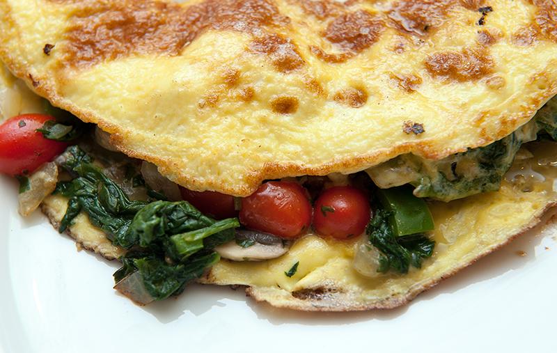 Paleo Veggie-stuffed Omelette