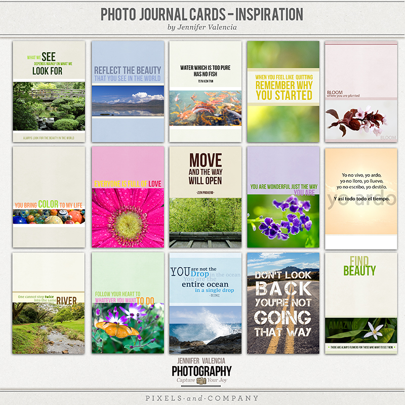 photo journal card template