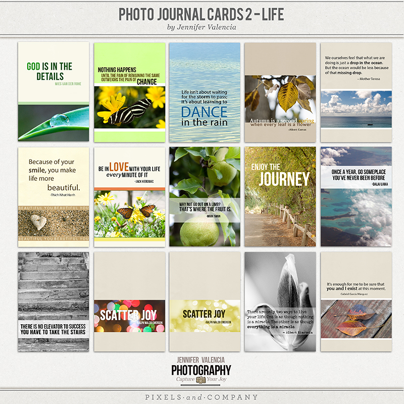 photo journal card template2