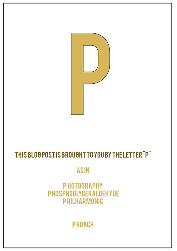 the letter P web
